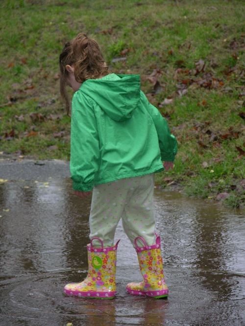 new boots - lots of rain - so many puddles